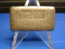 RARE ENGELHARD 5 OZ. .999 FINE SILVER POURED BAR! 4TH SERIES-SERIAL #40080