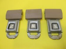 ((QTY 3))  70's, 80's, 90's FORD Seat Belt Buckle OEM ((Tan or Brown))