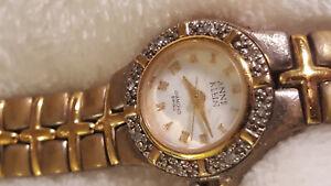 Anne Klein Women's Diamond Swiss Wrist Watch ~Needs Battery
