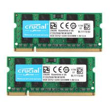 8GB 2x Crucial 4 GB SO-DIMM PC2-5300S DDR2 667 MHz 200pin RAM Laptop-Speicher