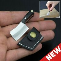 Small Mini Stainless Steel Folding Pocket Knife Keychain Blade Outdoor Survival~
