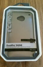 INCIPIO case for HTC ONE DualPro Shine Black Gray Aluminum Finish NEW Boxed $35