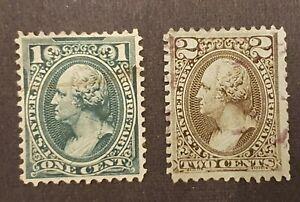 US Revenue Scott RB11a & RB12a 1 Cent & 2 Cent Proprietary