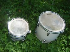 LOT OF 2 DRUMS Drum EVANS EC2 Drumheads Heads HB SURF CITY Kit U.S.A. USA Set