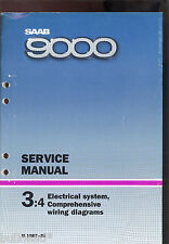 M 1987-88 SAAB 9000 / 3:4 ELECTRICAL SYSTEM WIRING DIAGRAM SERVICE MANUAL