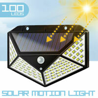 100 LED Solar Power Motion Sensor Light Outdoor Security Garden Waterproof Lamps
