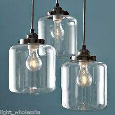 60W Wine Bottle Vintage Pendant Light Glass Chandeliers Iron for Dining Room