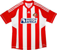 new SUNDERLAND 2012-13 home shirt Adidas XL Invest In Africa soccer jersey
