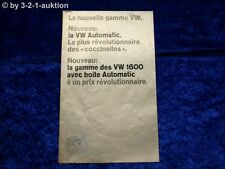 Volkswagen VW Programm  Karmann Ghia Käfer Automatic 1/68 Prospekt Broschure #22