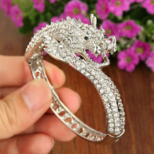 High Quality Fly Dragon Loong Bracelet Bangle Cuff Clear Austrian Crystal Gift