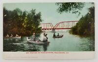 Postcard Boating on Russian River Healdsburg California