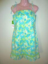 NWT Lilly Pulitzer Palm Green Chillin Crab/Seashell Print Dress 10/12 RARE