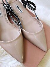 Miu Miu Toe Pump Sambra Slingback Flat Shoe 37