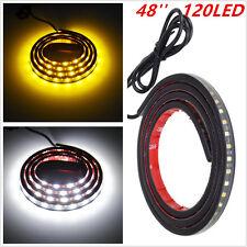 Car 12V Amber White 48'' 120SMD LED Strip DRL Turn Signal Indicator Pedal  Light