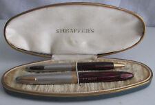 SHEAFFER'S FOUNTAIN PEN & MECHANICAL PENCIL SET w ORIGINAL BOX 14K NIB Vintage