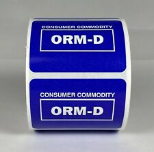 "Orm Other Regulated Material Labels Orm-D/Consumer Commodity (2""x1.5"", 500/Roll)"