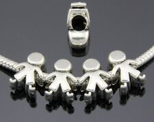 30pcs Tibetan Silver Lovely Boy Spacer Beads For European Charm Bracelet ZY187