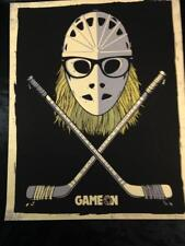 Waynes World Garth Hockey Goalie GAME ON Poster Stan Makita, SIGNED Matt Leunig