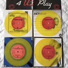 "U2 - 4 U2 PLAY 4 X 7"" INCH YELLOW VINYL SET EXCLUSIVE TO IRELAND VERY RARE"