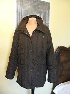 Schicke braune gefütterte Fashion & Style Jacke Gr 42 Mantel