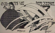 Willi GEIGER (1878-1971) Ex Libris Pepi Junger 1907 - signiert