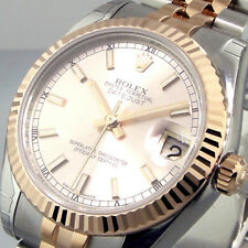 ROLEX DATEJUST 178271 MID SIZE 31 mm STEEL PINK GOLD JUBILEE PINK DIAL