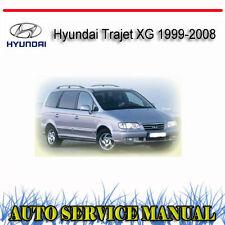 HYUNDAI TRAJET XG 1999-2008 SERVICE REPAIR MANUAL ~ DVD