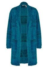 LONG cardi cardigan FLUFFY  stretchy knit jacket Celestial Blue XXL 2XL 22 24