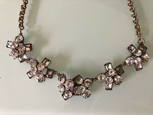 J Crew Clear Crystal Statement Necklace NEW!