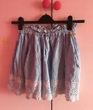 River Island Nautical Blue White Lace Summer Mini Skirt Size 8-10