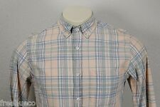 J.CREW Button-Down Shirt In Sky Madras Beige Green Blue Multi Plaid -Men's Small