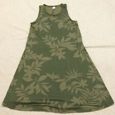 Old Navy Green Floral Dress Women's XS Sleeveless Rayon Spandex Woman's X-Small