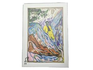 """""""son of art"""" billy childish signed colour postcard ICA """"unknowable but certain"""""""