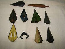 9 Vintage Broadheads Bear Razorhead Zwickey Boden and Others