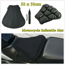 Motorcycle Seat Cushion Inflatable Pad Shock Absorption Mat w/3D Mesh Cover&Pump