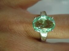 Fancy Gift~Gia certified 14K Gold Diamond 4.6ct Paraiba Tourmaline Ring~Free Shp