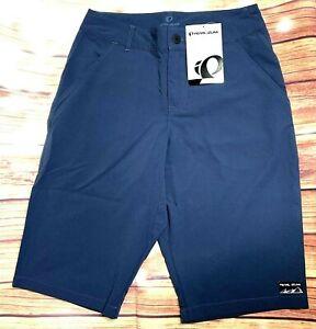 Pearl iZumi Boardwalk Shorts Mens 28 Midnight Navy Dry Fabric Reflective NWT