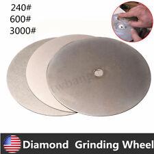 3PCS 6'' Inch Diamond Wheel Coated Flat Lap Grinding Disc Grit 240# 600# 3000#