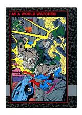 Skybox 1992 Doomsday The Death of Superman Base Card #72 As a World Watches!