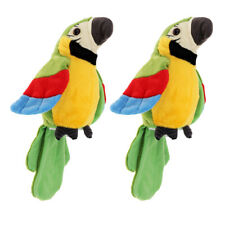2x Talking Bird Parrot Parakeet Repeating Toy Interactive Battery Powered