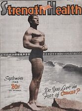Strength And Health Magazine,Sept.-1946-Fred Hacker Cover