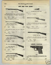 1930 PAPER AD Daisy Pump Air Rifle Automatic Repeater Benjamin Pop Guns Crosman