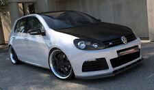 Carbon Spoilerlippe für VW Golf 6 VI R R20 Frontspoiler Spoilerschwert Diffusor