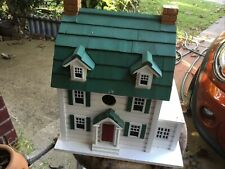 New listing Two Story Happy Home Wooden Birdhouse Outdoor Decor