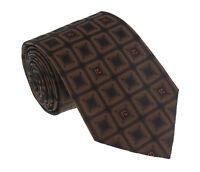 Roberto Cavalli ESZ033 03503 Brown Geometric Square Tie