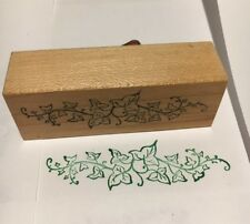Ivy swag rubber stamp mounted on wood in good condition