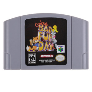 Conker's Bad Fur Day - For Nintendo 64 Video Games Cartridges N64 Console US Hot