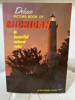 Vintage 1966 Pictorial Guide Book of Michigan Tourist Travel Guide Booklet