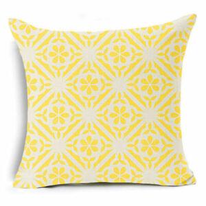 Bohemian Ethnic Geometric Cotton Linen Car Pillow Case Square Cushion Cover 18''