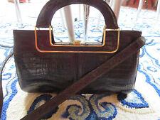 """1930""""s Pisk of Buenos Aires  Vintage Alligator Satchel Handbag"""